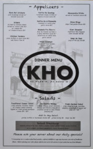 Kettle Ho Menu